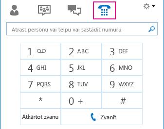 Ikonas Tālrunis ekrānuzņēmums, kurā tiek rādīta numuru sastādīšanas tastatūra, kuru var izmantot zvanu veikšanai