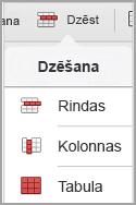 iPad tabulas dzēšanas izvēlne