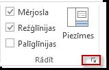 dialoglodziņa ikona grupā rādīt
