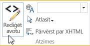 Avota rediģēšana SharePoint Online publiskajā tīmekļa vietnē
