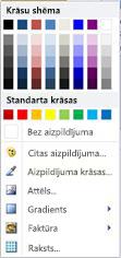 WordArt formas aizpildījuma opcijas programmā Publisher 2010