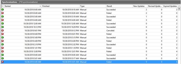 WSUS Sync fails1