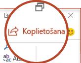 Poga kopīgot programmā PowerPoint 2016