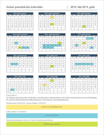 Kalendāra veidne