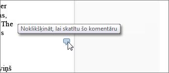 Attēls ar komentāru balonu programmā Word Web App