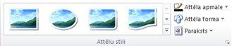 programmas publisher 2010 cilnes attēlu rīki grupa attēlu stili