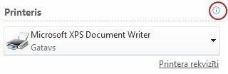 Publisher printera statuss