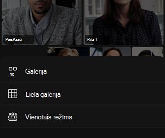 Video izkārtojuma opcijas
