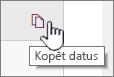 Noklikšķiniet uz kopēt datus ikonas, lai pašreizējā tīmekļa daļas datu kopēšana