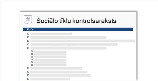 Konceptuāls attēls sabiedrisko sakaru tīklu kontrolsaraksts