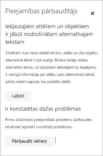 Programmā Outlook tīmeklī pārbaudīt, vai e-pasta ziņojumā nav pieejamības problēmu.