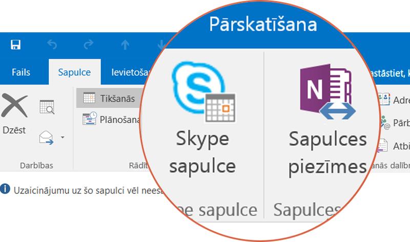 Sadarbība, izmantojot Skype un OneNote