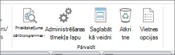 Pārvaldīt vietnes pogas