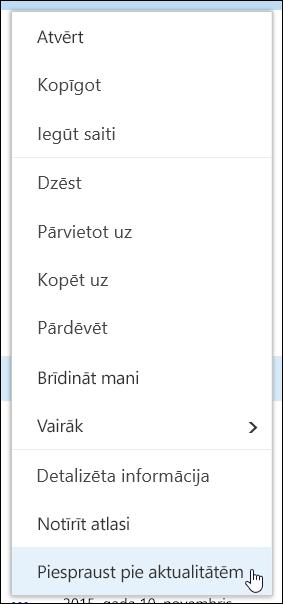 PIN vienumu Aktualitātes dokumentu bibliotēkā