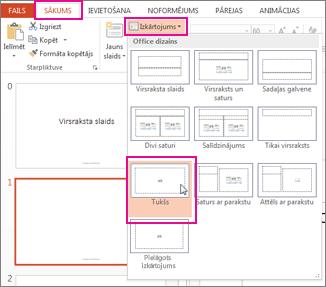 izkārtojuma, ko mainījāt slaidu šablona skatā, atkārtota lietošana