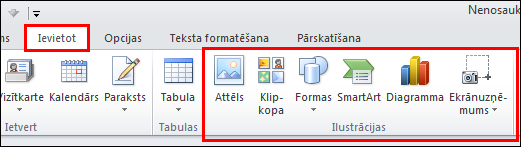 Outlook2010 attēla ievietošana
