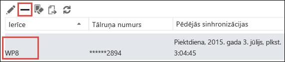 Tālruņa noņemšana no programmas Outlook Web App