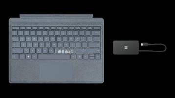 Surface TypeCover un USB ceļojumu centrmezgla fotoattēls