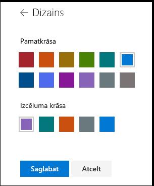 Pielāgot savas vietnes SharePoint krāsas