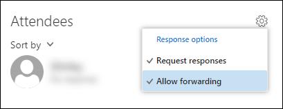 Opcijas Atļaut pāradresēšanas ekrānuzņēmums