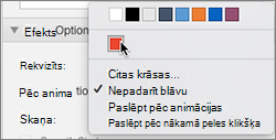 After animations options in Animations property pane