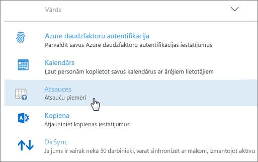 Office365 administrēšanas centrā izvietota pievienojumprogramma