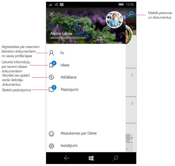 Delve darbam ar Windows Mobile