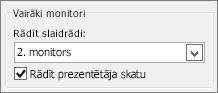 PowerPoint 2010 monitora opcijas