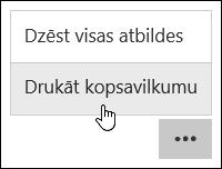 Kopsavilkuma izdruku Microsoft Forms