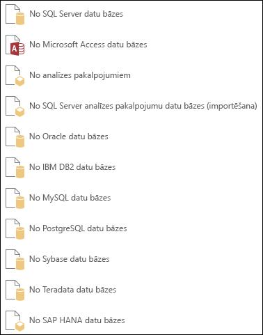 Datu ieguve no datu bāzes