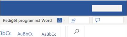 Rediģēšana programmā Word