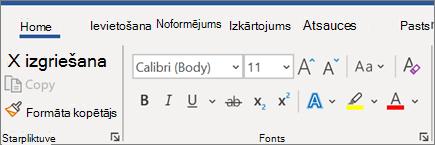 Teksta pievienošana un formatēšana programmā Word