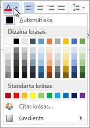 Fonta krāsu palete