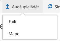 Office 365 augšupielādēt failus vai mapes dokumentu bibliotēkā