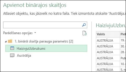 Apvienojiet bināros failus dialogs, parādot pieejami Excel darblapas, kuras atlasiet primāro konsolidācijas mērķi