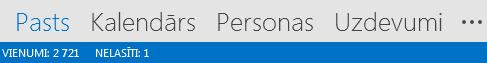 Cilne Personas atrodas Outlook ekrāna apakšdaļā.