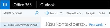 Kā izskatās lente, ja izmantojat Outlook tīmeklī.