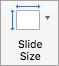 Tiek parādīta poga slaida izmēri