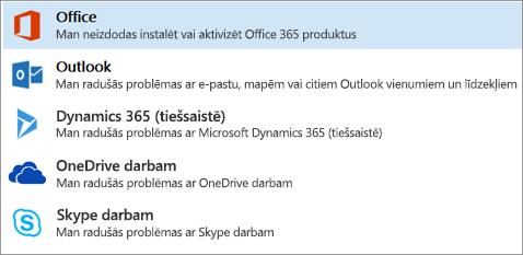 Parāda izceltu Office opciju atbalsta un atkopšanas palīgā