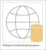 Access pielāgotas tīmekļa lietojumprogrammas ikonas