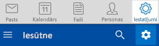 Outlook IOS un Android iestatījumi