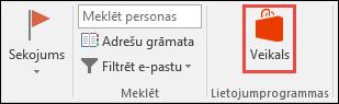 Veikala poga programmā Outlook
