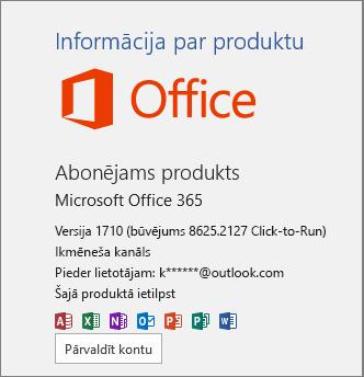 Parasts Office 365 būvējums
