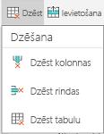 Android dzēšanas izvēlne