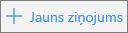 Ekrānuzņēmums, kurā redzama poga Jauns ziņojums pakalpojumā Outlook.com.