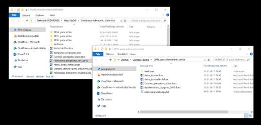Mapes operētājsistēmā Windows, kas pārklājas