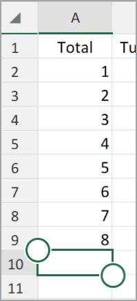 Android planšetdatora Excel Automātiskā summa
