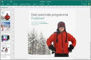 Izmantojiet programmu Publisher, lai izveidotu profesionālus biļetenus, brošūras un citas publikācijas