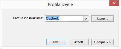 Dialoglodziņš Profila izvēle