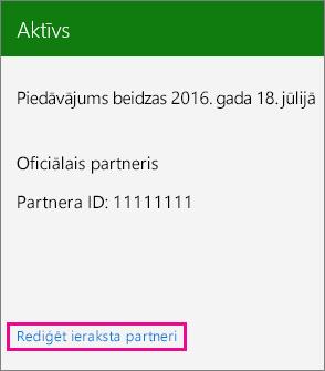 Izvēlieties Rediģēt ieraksta partneri